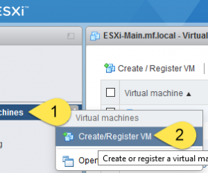 Creating a Virtual Machine in vSphere